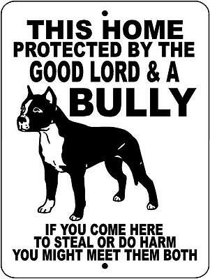 "PIT BULL Dog Sign,Pitbull,Bully,9""x 12"" Aluminum Sign,Guard Dog,Security,Dogs"