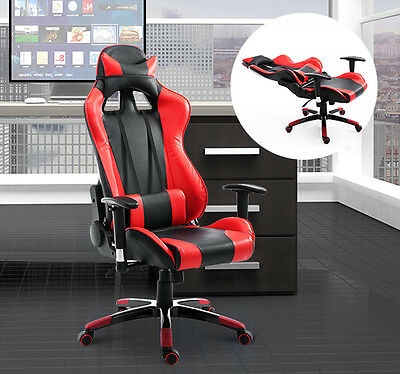 HOMCOM Executive Racing Gaming Chair High Back Ergonomic PU Computer Seat Swivel