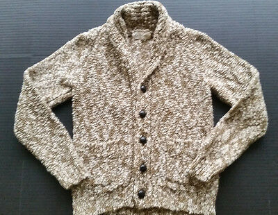 Crewcuts 8 Cardigan girls Brown White button Front Sweater Pockets J Crew