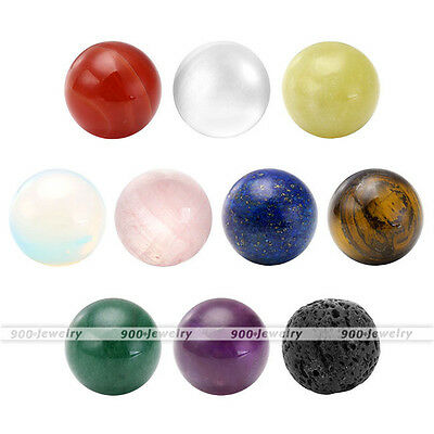 Round Ball Natural Gemstone Chakra Healing Reiki Beads fit Locket Pendant Gift