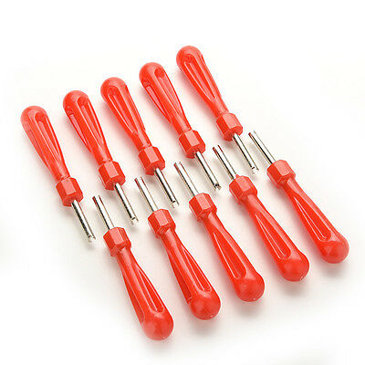 10 x Tyre Valve Core Remover Removal Tool Key - High Quality Cars & Bikes
