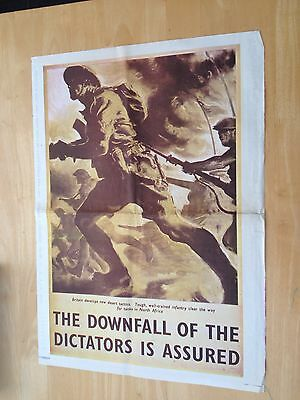 WW11 Poster BRITISH INFANTRY CLEAR THE WAY IN NORTH AFRICA