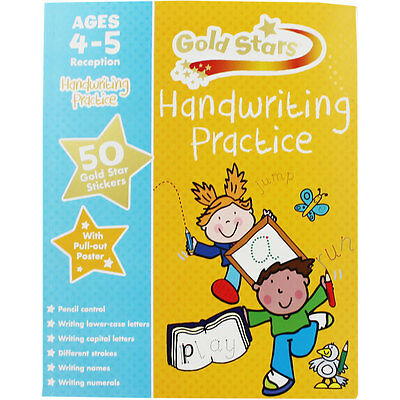 Gold Stars Handwriting Practice - Ages 4-5 (Paperback), Children's Books, New