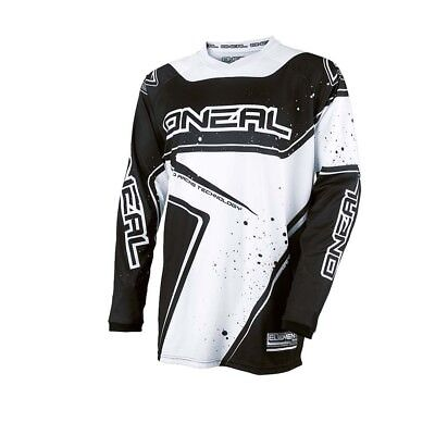 Oneal 2017 Element Racewear Jersey Dirt Bike Clothing Top Black/white