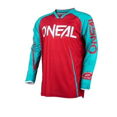 Oneal 2017 Mayhem Blocker Jersey Dirt Bike Clothing Top Adult Red/teal