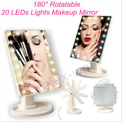 20 LED Light Make-Up Mirrors with Lights Touch Screen Lighted Tabletop Cosmetic