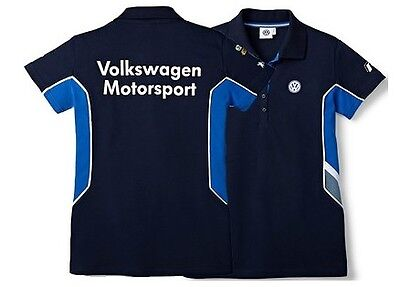 Vw Motorsport Collection – Genuine Ladies Dark Blue Polo T Shirt