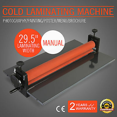 "29.5"" Cold Laminator Machine Photo Poster 4 Roller Manual Roll Laminating Hot"