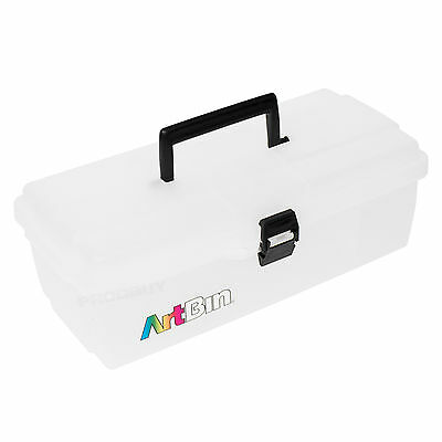 ArtBin Artist's Tool Box Store Clear Plastic Carry Case Art Pencil Storage Caddy
