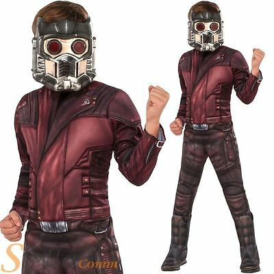 Boys Deluxe Star Lord Costume Guardians Of The Galaxy 2 Fancy Dress Outfit