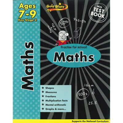 Gold Star Maths Key Stage 2 7-9 years (Paperback), Children's Books, Brand New