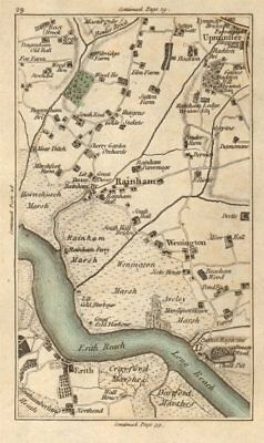 HORNCHURCH Upminster Erith Rainham Dagenham Purfleet Dartford CARY 1786 map