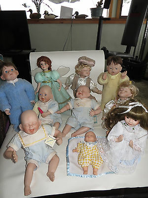 Kathy Hippensteel Porcelain Dolls-Cathy collection and others (LOT) of (10)