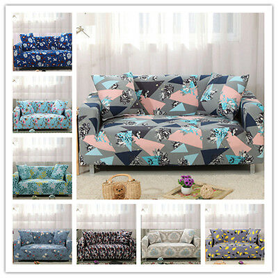 Dustproof Elastic Pet Print Sofa Stretch Seater Cover Protector Couch Slipcover