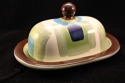 Gail Pittman Stoneware Butter Dish - Pattern Unknown - Issued 2002