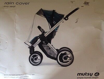 Mutsy Evo Seat Stroller Raincover, Clear / Baby Stroller Rain Cover