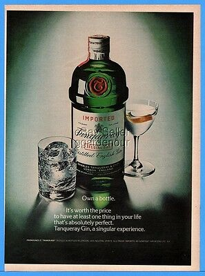 1976 Tanqueray Gin Own A Bottle Cocktail Classic Green vintage photo print ad