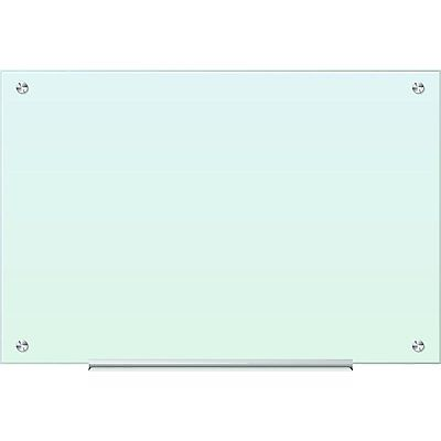 U Brands White Frosted Surface, Frameless 35 x 23-inch Glass Dry Erase Board