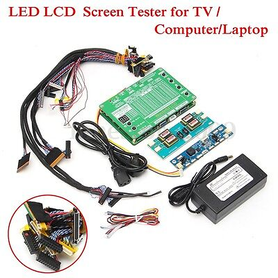 Laptop LCD/LED Panel Repair Tool Kit TV Screen Tester +14x Lvds Cable + Inverter
