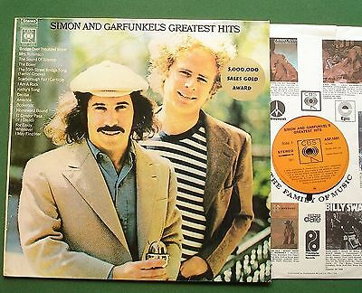 Simon & Garfunkel Greatest Hits inc Cecilia + Rare Sales Award Motif ASF 1691 LP