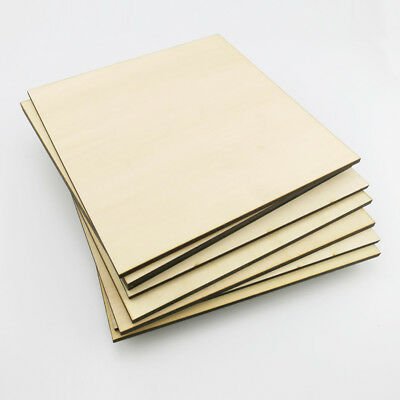 Wood Chips Basswood Plywood Sheet Thick 5mm DIY Building Model Craft Multi Size