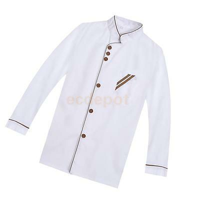 Chef Uniform Clothing Long Sleeves men women Food Services Cooking Clothes M