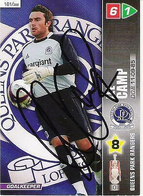 A Panini 2008 card. Personally signed by Lee Camp of Queens Park Rangers.