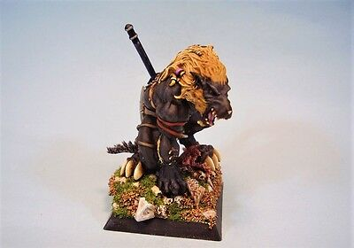 Confrontation painted miniature Wolfen Leader Varghar