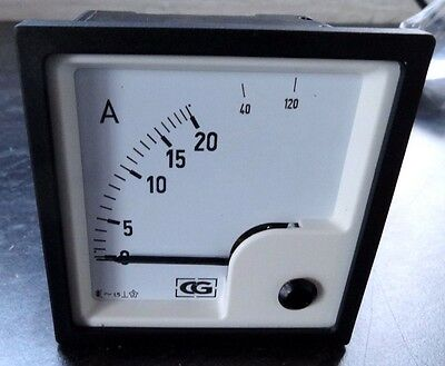 EQ72 20A AC/DC analogue current amp panel meter 72mm