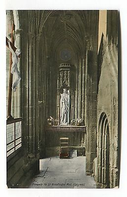 Holywell - Entrance to St Winefrides Well - old Flintshire postcard