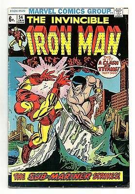 Iron Man Vol 1 No 54 Jan 1973 (FN+ to VFN-) Marvel, Bronze Age (1970 - 1979)