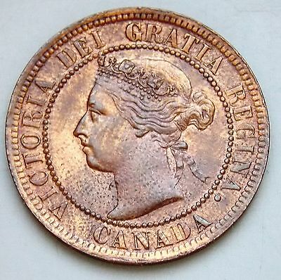 1899 9/9 RP9 Variety Canada Large 1 Cent Canadian Victoria Coin - Cleaned