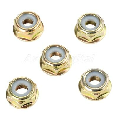 5 X Lawnmowers Brush Cutter Blade Nuts M10*1.25 String Trimmer Gear Spare Parts