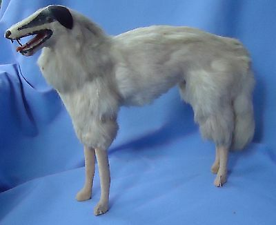 "Antique 13"" Germany Fur Borzoi Salon Dog French Fashion Doll"
