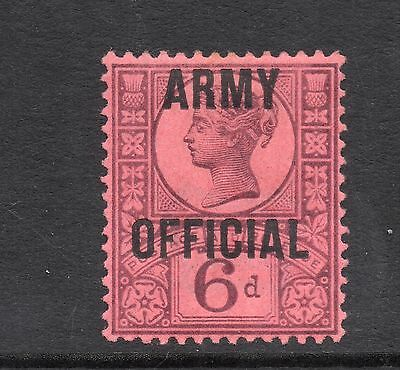 GB Officials 1896 6d Surf-Printed Stamp O/P 'ARMY OFFICIAL' SGO45 Mint REF:X382