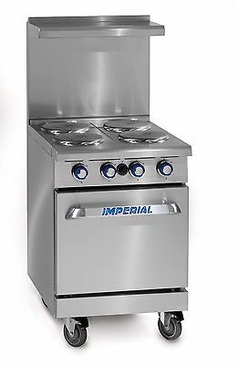 "Imperial (IR-4-E) 24"" 4-Burner Electric Range Stove 1 Standard Oven"