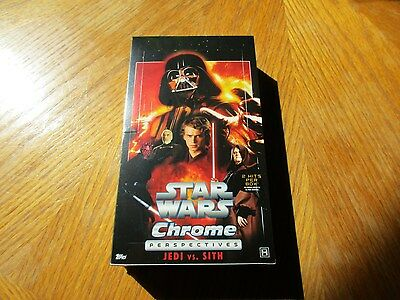2015 Star Wars Chrome Perspectives Jedi Vs Sith Factory Sealed 12 Box Hobby CASE