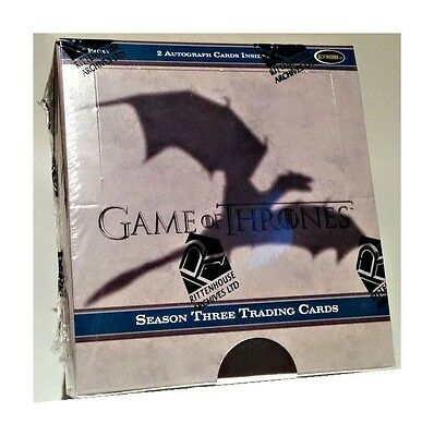 Game of Thrones Season 3 Factory Sealed Box w/ 2 Autographs - Series Three