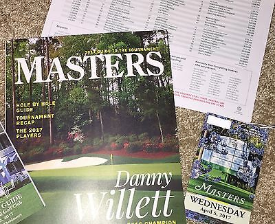 2017 Augusta National Masters Golf Souvenir Packet With Wed. Practice Ticket