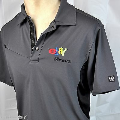Ebay Motors Oglio Jersey Polo Golf Mens Shirt Medium New Embroidered Performance
