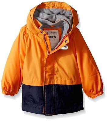 Carter's Little Boys Colorblock Fleece Lined Windbreaker Size 2T 3T 4T 5/6