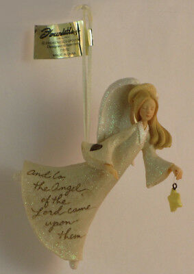 Foundations By Karen Hahn Angel With Star Hanging Ornament-118152