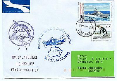1997 Agulhas Voyage 84 Marion Island Posted at Sea Cape Town Polar Arctic Cover
