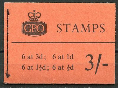 GREAT BRITAIN  BOOKLET SG#M24g MARCH 1960 PHOSPHOR GRAPHITE COMPLETE MINT NH