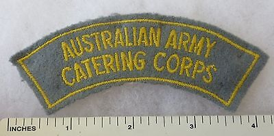 AUSTRALIAN ARMY CATERING CORPS - ORIGINAL Post WW2 Vintage SHOULDER FLASH PATCH