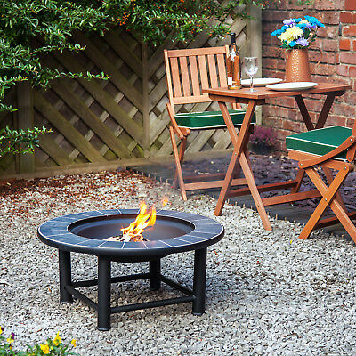 """30"""" Fire Pit with Tiled Ceramic Table Guadeloupe by Fire Mountain"""