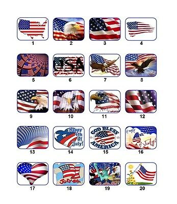 30 Personalized Return Address US Flag Labels Buy 3 get 1 free (usf1)