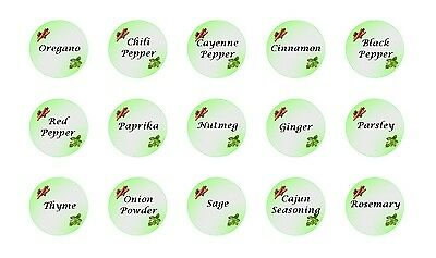 30 Round Spices Stickers printed on Square Stickers Buy 3 get 1 Free (sp5)