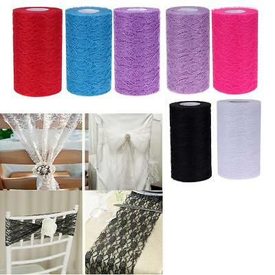25yard Party Sash Chair Decor Fabric Tulle Lace Roll Table Runners Wedding Decor