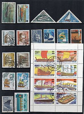 BOATS SHIPS Thematic STAMP COLLECTION Used Ref:TS244